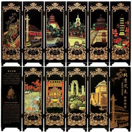 Wholesale Tourist Souvenir Gift - Wooden crafts small screen scenery of Beijing tourist souvenirs decoration business abroad to send foreigners gifts