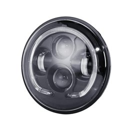 "Wholesale universal led halo rings - Partol 7"" Round LED Headlight with Halo Ring Motorbike Passing Light Modified Head Lamp Spot Lights"