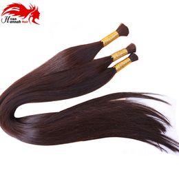 Wholesale Pretty Virgins - Fashion Pretty Brazilian Virgin Straight Human Hair Bulk For Braiding 3Pcs Lot 300g Straight Bulk Hair Extensions