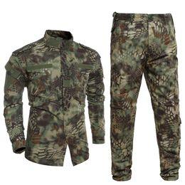 Wholesale Clothing Hunting Suit - Kryptek Multicam Uniform Outdoors Equipment Tactical Suit US Python Clothing and Pants Set
