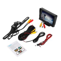 Wholesale Car Reversing Set - KELIMA Car Rear View Rearview Reverse Parking Camera with 7 LED Night Lights with 4.3 inch Monitor Display 2-in-1 Set 192610301