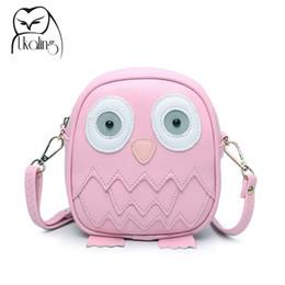 Wholesale Owl Phone Purse - Wholesale- Cute Mini Purse Handbag Owl Women Messenger Bags For Summer Crossbody Shoulder Bag with Belt Strap Sac Lady Clutch Purses Phone