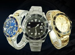 Wholesale High Fashion Watch Men - 2017 Famous design Fashion Men Big Watch Gold silver Stainless steel High Quality Male Quartz watches Man Wristwatch