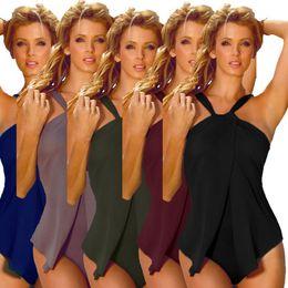 Wholesale Vintage Tankini Swimsuits - Swimwear Women Sexy Swimsuit Halter Tankini One Piece Bikini Fashion Monokini Retro Beachwear Summer Bathing Suits Vintage Bodysuit D543