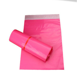 Wholesale Pink Poly Mailers - 100pcs lot 20*30cm Pink Express Bag  Poly Mailer Mailing Bag Envelope  Self Adhesive Seal Plastic pouch