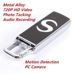 Wholesale Flash Disk Security - Portable 1280*720P HD Camera Spy Hidden Camera USB Flash Drive U Disk Hidden Camcorder DVR with Motion Detection Security Surveillance Cam