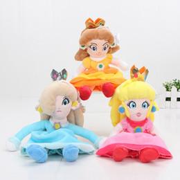Wholesale Stuffed Princess Toy - 20cm soft Super Mario Bros Plush Princess Peach Daisy Rosalina Soft Stuffed Plush Doll Toys Super Mario chrismas Gift