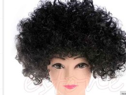 Wholesale Blonde Medium Hair Styles - New Style Halloween Costume Holiday Clown Party Explosion Curls Multicolor