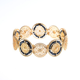 Wholesale Europe Fashion Charm Bead Bracelet - HOT!HOT!HOT!!Fashion jewelry hair 18 K gold boutique jewelry beads bracelet hollow bead bracelet Europe and the United States