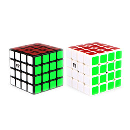 Wholesale Puzzle Stickers - QiYi QiYuan 4X4X4 Rubics Magic Cube Professional Speed Square Cube Puzzle Cube With Stickers Kids Brain Teaser Cubo Magico Toys