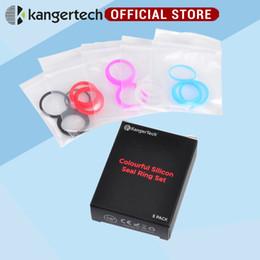 selos de anel para atomizadores Desconto Venda por atacado - 100% Original Kanger Subtank Mini anel de vedação 5 cores anéis de silicone para Kangertech Subtank Mini Atomizador Kanger subtanque O-Ring