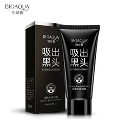 Wholesale Skincare Acne - suction black mask deep cleansing nose blackhead remover facial mask black head acne black mud face mask beauty skincare bioaqua