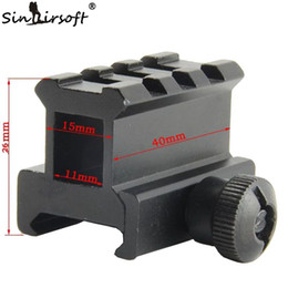 "Wholesale Med Designs - Sinairsoft 0.83"" High See-through See-thru Design 3-Slot Med-Profile Super Compact Riser Mount For Airsoft Picatinny Weaver Rails MNT-RS08S3"