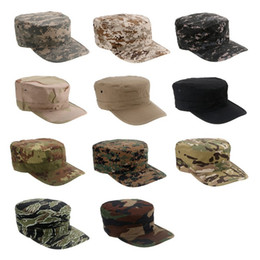 Wholesale Camouflage Caps For Sale - Hot Sale New Unisex Camouflage Octagon Hat RipStop Cap Combat Hats for Outdoor Sports