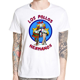 Wholesale Los Pollos Hermanos T Shirt - Wholesale free shipping Fashion Los Pollos Hermanos T Shirt Men's Breaking Bad Chicken Brothers T-shirts Boys Casual Tee Tops Clothing for m