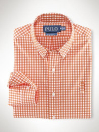 Wholesale Long Sleeved Polo Shirts - High-quality men's fashion casual brand Plaid shirt men's long-sleeved cotton shirt POLO shirt fashion casual shirts Man's clothing
