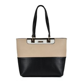 Wholesale Big Totes - Sally Young Casual Tote Bag Woman Big Handbags Serpentine Simple Brand Designer Patchwork Two-tone Shoulder Bags SY2120