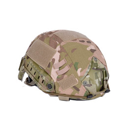 Wholesale Helmet Camo - SINAIRSOFT Airsoft Tactical Helmet Accessories Cover For Fast Helmet Cover BJ PJ MH Multicam Typhon Camo FAST Helmet Accessories