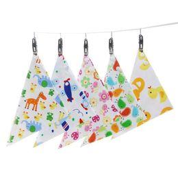 Wholesale Nursing Cloths - Baby Bibs Towel Triangle Burp Saliva Burp Cloths cartoon Infant Toddler Bandana Scarf Double Layers Kids Nursing Bibs 32 design KKA2171