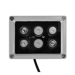 illuminateur ir infrarouge vision nocturne Promotion 12V 60m 6 PCS LED Array IR lampe infrarouge lampe Led lumière extérieure étanche pour caméra de vidéosurveillance Caméra de surveillance 6 lumière arrey IR