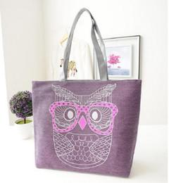 Wholesale Owl Retro Bag - Wholesale-2015 Hot Canvas Cartoon Owl Bag Designer Retro Women Handbags High Quality Tote Shoulder Bag Shopping Bags Female