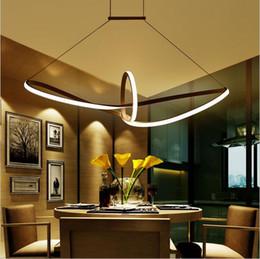 Wholesale White Pendant Chandelier - modern minimalist led pendant light led hanging lamp suspension chandeliers livingroom indoor lighting fixture Aluminium AC90-265V