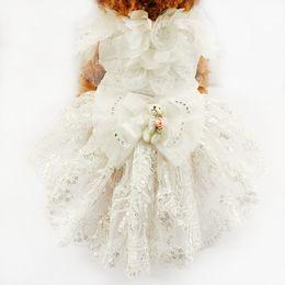 Wholesale Princess Dog Costumes - armipet Puppy Doll Decoration Princess Dog Dress Dogs Wedding Dresses 6073007 Pet Tutu Skirt Costume Supplies XS S M L XL
