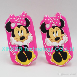 Wholesale Galaxy S Ace - 3D Minnie Mouse Silicone Cases Back Cover For Samsung Galaxy Grand Prime Grand Duos Core Prime Ace 4 Core2 Trend S Duos Galaxy Alpha S3 S4