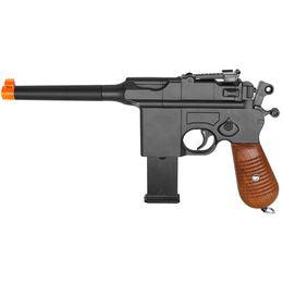 Wholesale 6mm Plastic - WW2 MAUSER BROOMHANDLE C96 GERMAN METAL AIRSOFT SPRING HAND GUN PISTOL w  6mm BB