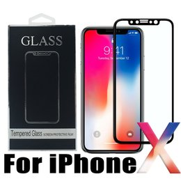 Wholesale Iphone Cold - 3D Screen Protector Curved Edge Frame 9H HD Clear Cold Carved Tempered Glass for iPhone X 8 7 6 6s Samsung Galaxy S8