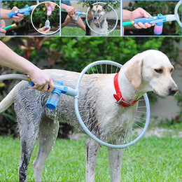 Wholesale Pet Cleaning Kit - Pet Dog Cat Bathing Cleaner Shower Kit Woof Washer 360 Pet Dog Gently Clean Tool