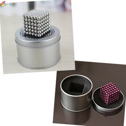 Wholesale Education Ball - Wholesale- 216Pcs x 3mm Magnet Magnetic Balls DIY Multivariant Style Puzzle Magic Cubes Buck ball Kids Gift Learning Education+Box