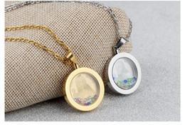Medallón religioso online-Nuevo Estilo Acero Inoxidable 316L San Benito Religioso Católico Joyería Locket Collar de Cristal