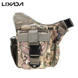 Wholesale hiking backpack camera - Waterproof Oxford Men's Military Tactical Bags Pack Molle Tactical Shoulder Strap Bag Pouch Travel Backpack Camera Military Bag B03