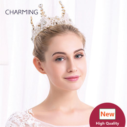 Wholesale China Shipping Online - hair crown accessories gold head jewelry crystal hair accessories online shop china wholesale suppliers free shipping