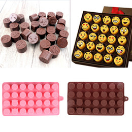 Wholesale Faces Cake Decorating - 1Pc 28-even Emoji Expression Smiling Face Shape Cake Decorating Tool Silicone Cake Moulds Chocolate Tool Ice Tool Chocolate Pink