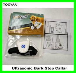 Ladrido ultrasónico online-Ultrasonidos Anti Barking Dog Training Collares perros de PET ajustable entrenamiento Stretch Collar Dog Barking stop control collares