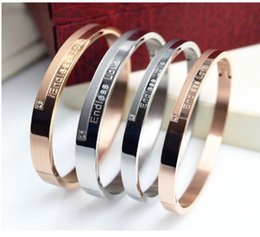 Wholesale Gold Titanium Engagement Ring - A diamond ring of titanium steel rose gold lovers bracelet, a couple of Korean fashion accessories