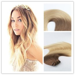 Ombre brazilian clip hair extensions canada best selling ombre ombre color 6613 best seling high quality fashion style virgin remy hair straight human hair clip in hair extension 100g per bundle pmusecretfo Images