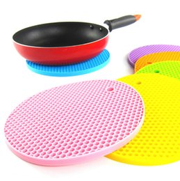 Wholesale Honeycomb Table - Wholesale-1pcs Brand New Home Table Cup Plate heatproof Mat Creative Decor Coffee Drink Placemat Honeycomb Spinning Vinyl Drinks Coasters