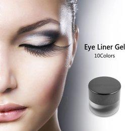 Wholesale Gel Eyeliner 3g - New 2016 Waterproof Long lasting Eye Liner Gel Eyeshadow Makeup Liquid Eyeliner Gel 3g #91995