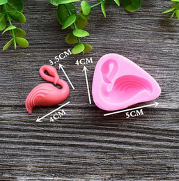 Wholesale Silicone Candy Soap Molds - Flamingo Silicone Mold Cake Chocolate Mould Candy Maker DIY Cookies Soaps Molds Baking Moulds Kitchen Tools Bakeware