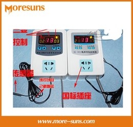 Wholesale Digital Electronic Thermostat - Wholesale-Free shipping Intelligent digital display temperature control thermostat electronic temperature controller switch socket WK-SM3A