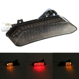 Wholesale Led Tail Lights For Motorcycles - LED TailLights Brake Tail Lights with Integrated Turn Signals Indicators Smoke Motorcycle For 2002-2003 Yamaha YZF R1