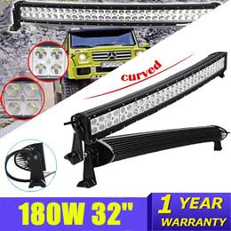 Wholesale Led Atv Light Bar Kit - 33 Inch 180W Curved LED Light Bar for Work Driving Lamp Boat Car Truck Jeep Ford 4x4 SUV ATV Off Road Fog Lamp 12V 24V without Wiring Kit