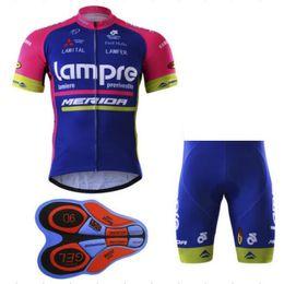 LAMPRE MERIDA PRO TEAM traje de manga corta azul Racing Bike desgaste de la  bicicleta + pantalones cortos talla XS-5XL ed4d66d82