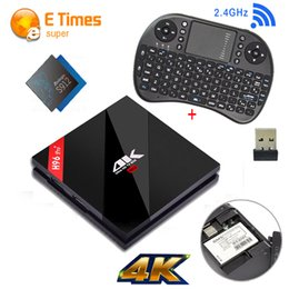 Wholesale Tv Wifi Keyboard - Amlogic S912 3GB RAM 32GB ROM Android TV Box H96 Pro + Plus Quad Core 4K WiFi H.265 Gigabit Lan Mini PC Smart TV Box+I8 Keyboard