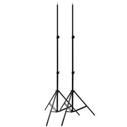 Wholesale Umbrella Bracket - 2x 2M 7ft Tube Light Lamp Studio Photography Light Flash Speedlight Umbrella Stand Holder Bracket Tripod for Reflector