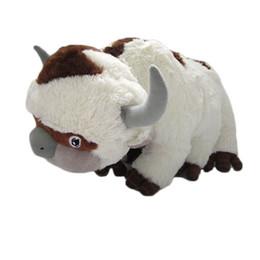 Juguetes vaca online-50 CM de gran tamaño Anime Kawaii Avatar último Airbender Appa juguetes de peluche juguetes suaves vaca animales de peluche Brinquedos muñeca juguetes para niños regalos adultos