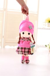 Wholesale New Beautiful Girls - New Cute 40cm Mayfair Plush Toys Backpack 5 Styles Stuffed PP Cutton Girl Bag Beautiful Dolls Bag For Girls Best Gift For Kids